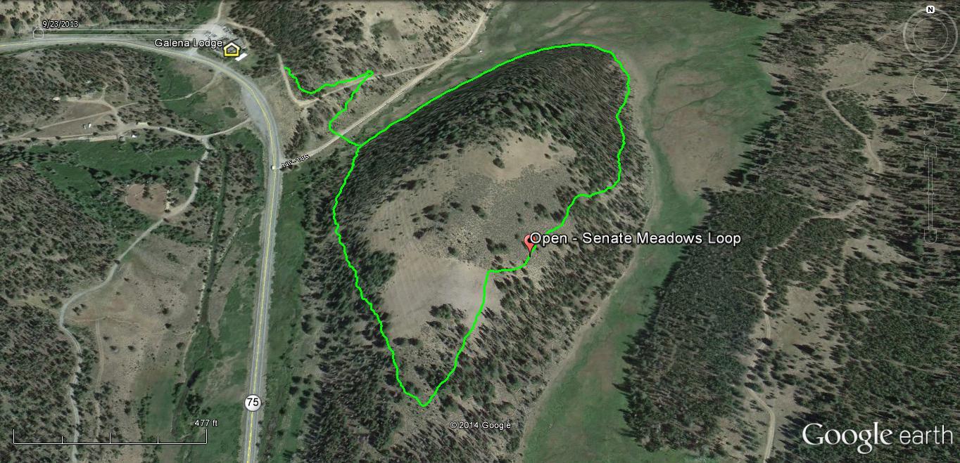 Senate Meadow Loop is open at Galena Lodge