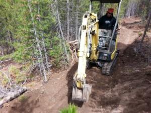 Mini-x digging in at Galena