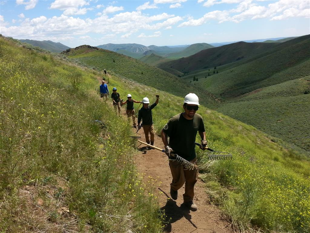 Yuts Movement. Youth Corps Crews have been busy working on trails up and down the Wood R. Valley in 2016.