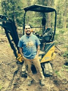 Sutter 300 (mini-bulldozer) lead operator Derek