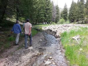 Coalition members reviewing progress in Deer Creek and planning future efforts.