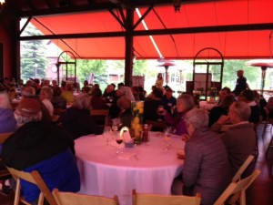 Guests celebrating successes and learning about future challenges at June 2015 5BRC celebration.