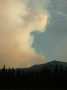 Smoke from the 2013 Beaver Creek Fire.