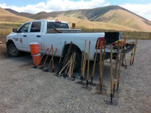 Trail tools ready for volunteers.