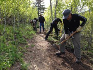 AAT Trail Crew Boss Training May 10, 2016. Adams Gulch.